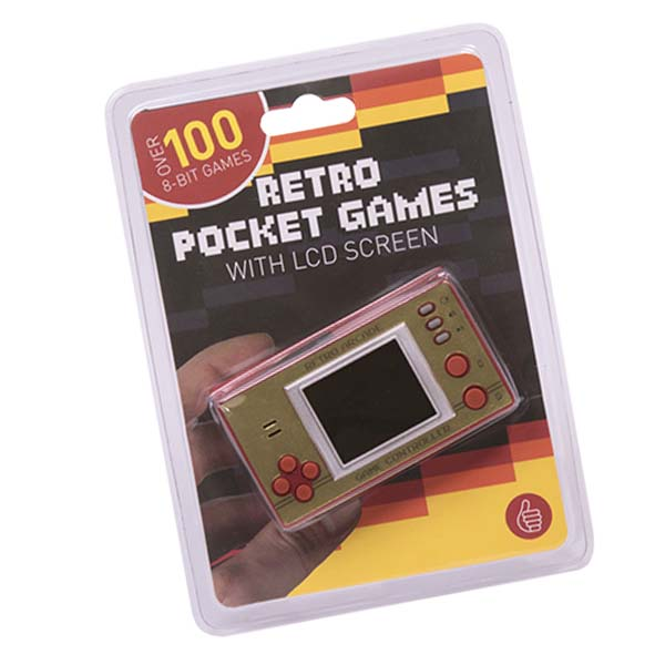 Thumbs Up Retro Pocket Games Over 100 8 Bit Games