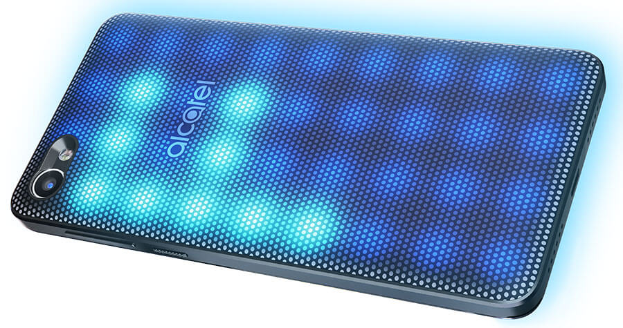 alcatel a5 led light up rear back cover smartphone