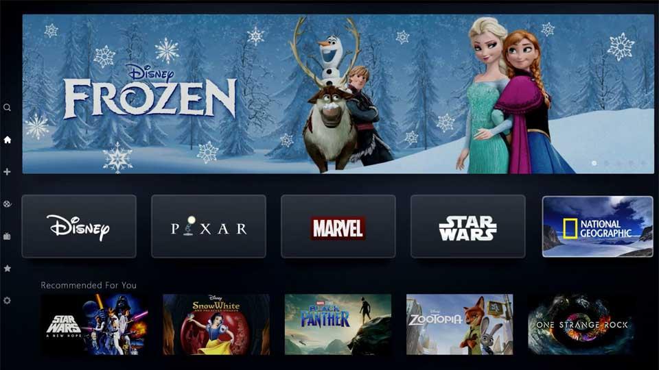 Disney+ Title Menu