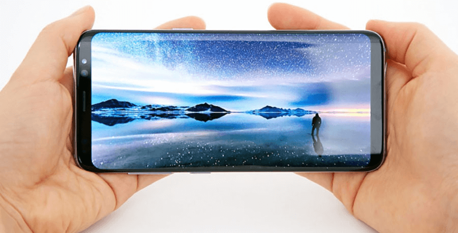 Samsung Galaxy S8 In The Hand