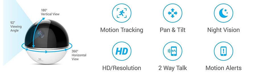 EZ Viz smart home camera 360
