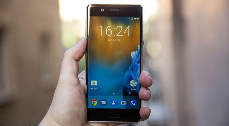 nokia 5 display screen smartphone android front