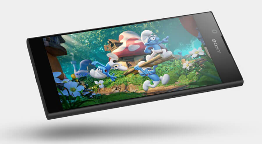 sony xperia L1 android smartphone screen display