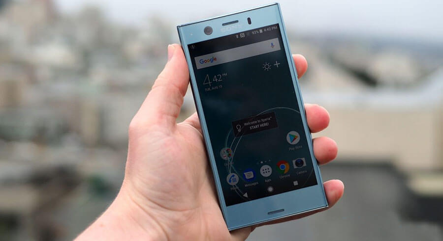 sony xperia xz1 compact screen display