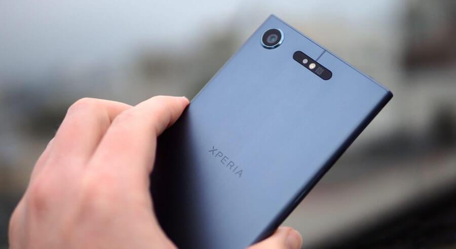 sony xperia xz1 smartphone back aluminium
