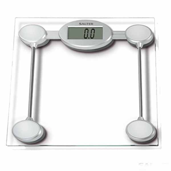 Salter 9018s Sv3r Electronic Bathroom Scales Glass Amp Silver