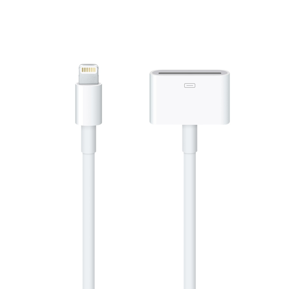 Official Apple 8 Pin Lightning Adapter To 30 Pin Cable 0