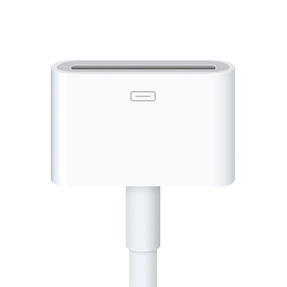 Official Apple 8 Pin Lightning Adapter To 30 Pin Cable 0 2m Md824zm A