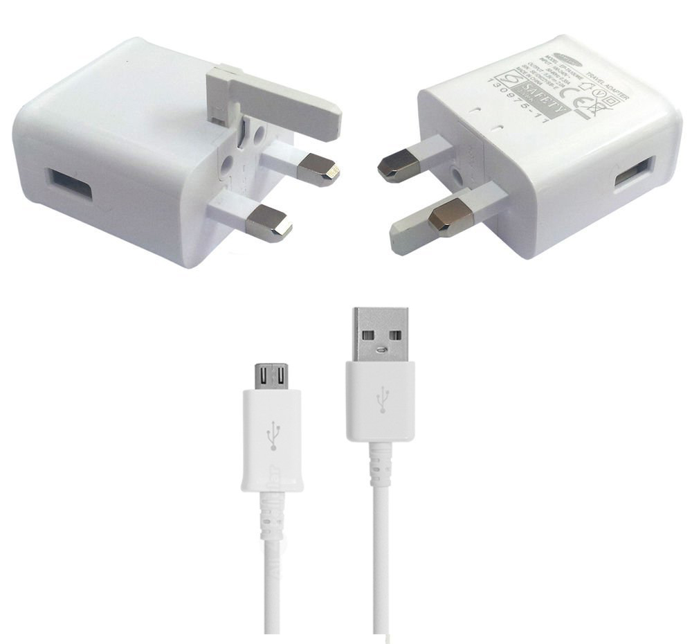 Genuine Samsung Galaxy Note 4 Uk Mains Charger With Usb