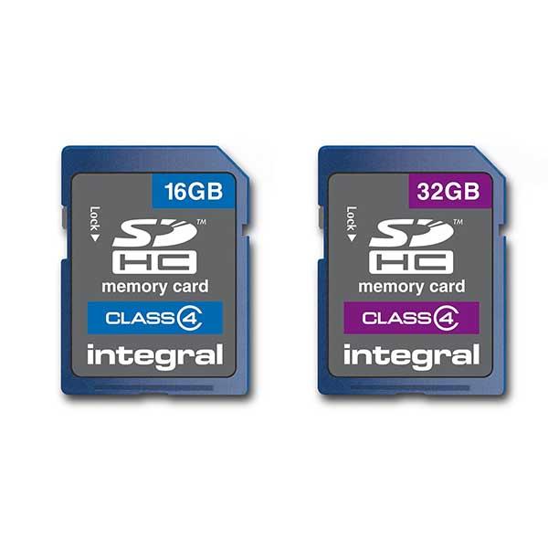 Integral Sdhc Class 4 Memory Card 16gb Or 32gb