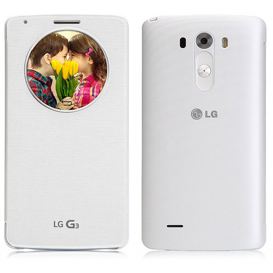 Lg Quickcircle Qi Charging Case For Lg G3 Ccf 340g White