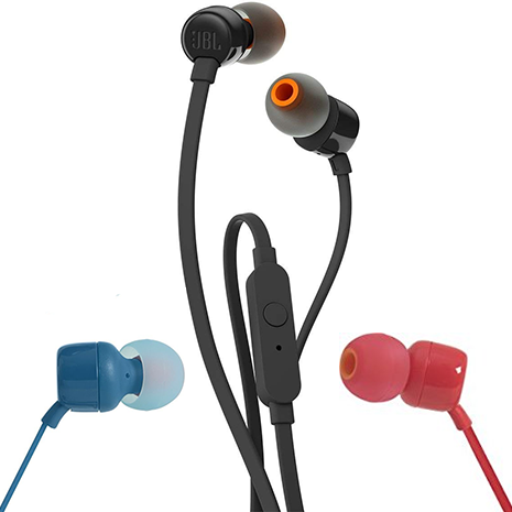 Jbl Tune 110 In Ear Headphones Jblt110 Black Red Blue