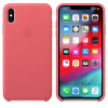 Official Apple Leather Case | iPhone XS Max | Peony Pink