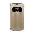 LG quick cover flip case Gold