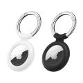 ESR Cloud Silicone AirTag Keychain Holder - 2 Pack | Black/White