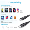 ESR Twin Pack USB-C to Lightning Cable - 2m | Black