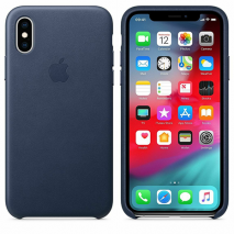 Apple Leather Case - Midnight Blue - iPhone XS