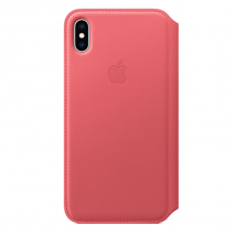 Official Apple Leather Folio Case | iPhone XS Max | Peony PinkOfficial Apple Leather Folio Case | iPhone XS Max | Peony Pink