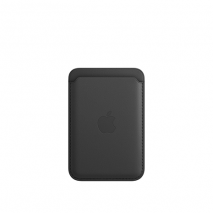 Official Apple iPhone Leather Wallet Case with MagSafe | Black