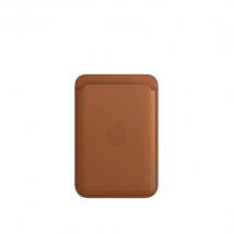 Official Apple iPhone Leather Wallet Case with MagSafe | Saddle Brown