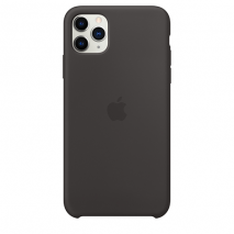Apple Silicone Case | iPhone 11 Pro Max | Black - Back