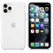 Official Apple Silicone Case | iPhone 11 Pro | White - Back