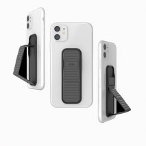 CLCKR Universal Grip and Stand - Pebble Lines Grey