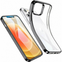 ESR Halo Slim Soft Case Cover | iPhone 12 & 12 Pro | Clear/Black