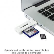 Integral USB 2.0 Dual Slot Card Reader | SD & Micro SD/XC/HC