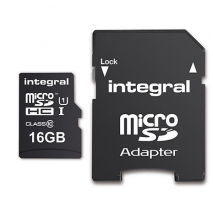 Integral Micro SD Card - 16GB - With Adapter