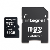 Integral Micro SD Card - 64GB - With Adapter