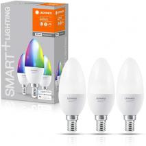 LEDVANCE Smart+ WiFi Bulb 40W E14 - Multicoloured - 3 Pack