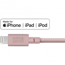 Native Union 1.2m Lightning To Aux 3.5mm Cable | Rose - MFi