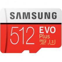 Samsung EVO Plus 512GB MicroSDXC Memory Card with SD Adapter
