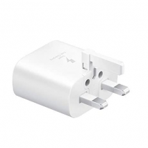 Official Samsung 25W USB-C PD Fast Charging Plug - White - Travel Adapter