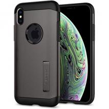 Spigen Armour Case With Kickstand - iPhone X & XS | Gunmetal Grey