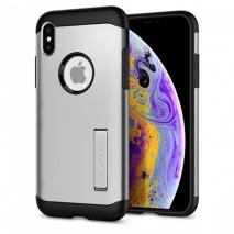 Spigen Armour Case With Kickstand - iPhone X & XS | Silver