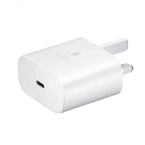 Official Samsung 25W USB-C PD Fast Charging Plug - White
