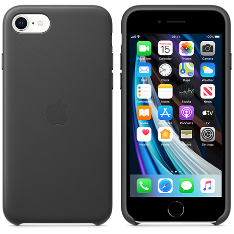 Official Apple Leather Case - iPhone 7/8/SE (2020) | Black