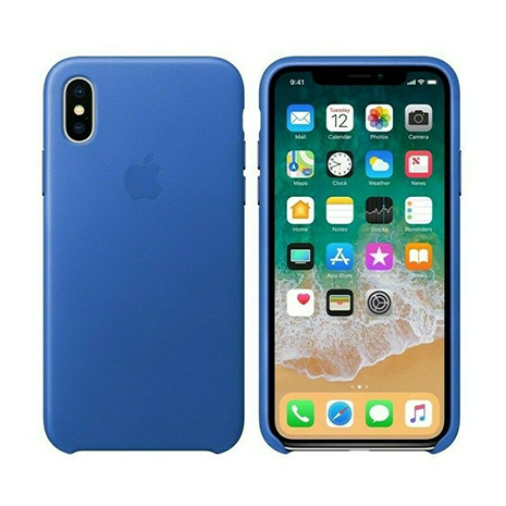 Official Apple Leather Case | iPhone XS Max | Electric Blue
