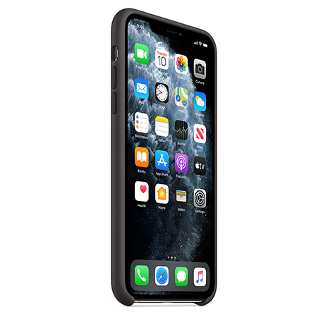 Official Apple Silicone Case | iPhone 11 Pro | Black - FrontOfficial Apple Silicone Case | iPhone 11 Pro | Black