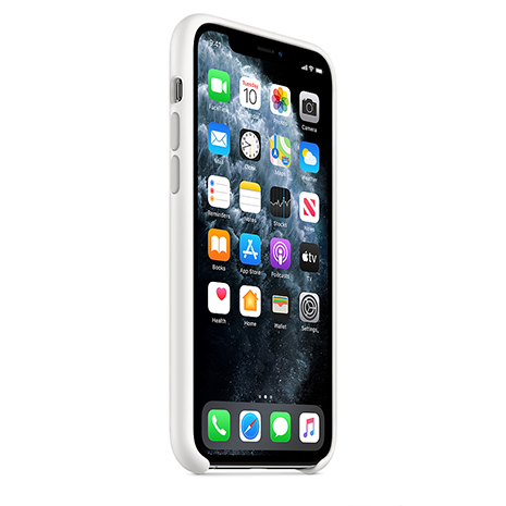 Official Apple Silicone Case | iPhone 11 Pro | White - Front