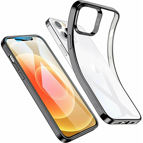 ESR Halo Slim Soft Case Cover | iPhone 12 Pro Max | Clear/Black