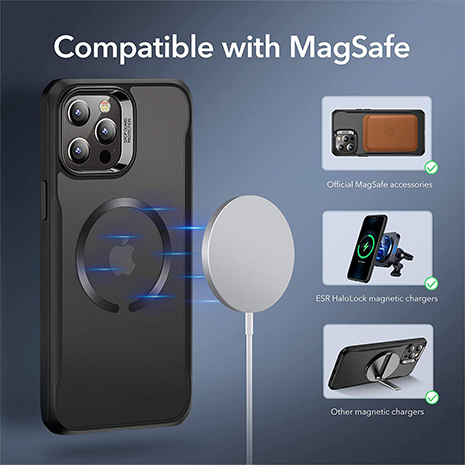 ESR Sidekick Hybrid Case - Magsafe Compatible - iPhone 12 & 12 Pro | Black