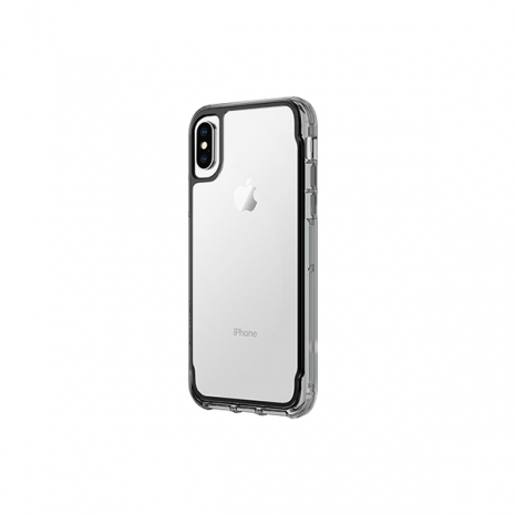 Griffin Survivor Clear Case - Clear/Smoke/Black - iPhone X - TA43850