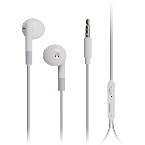 KitSound Play EarPhones with Remote & Mic | White