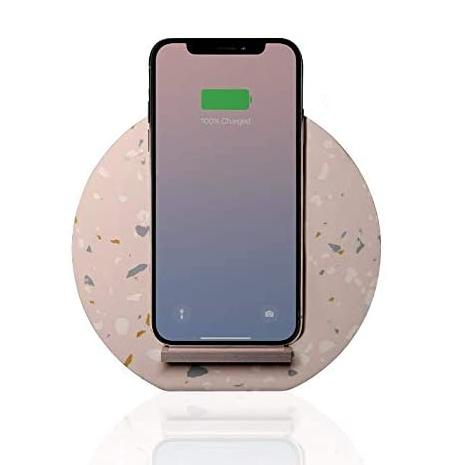 Native Union Terrazzo Wireless Charging Dock - Qi Compatible - Rose