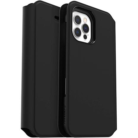Otterbox Strada Via Folio Impact Case - iPhone 12 & 12 Pro | Black